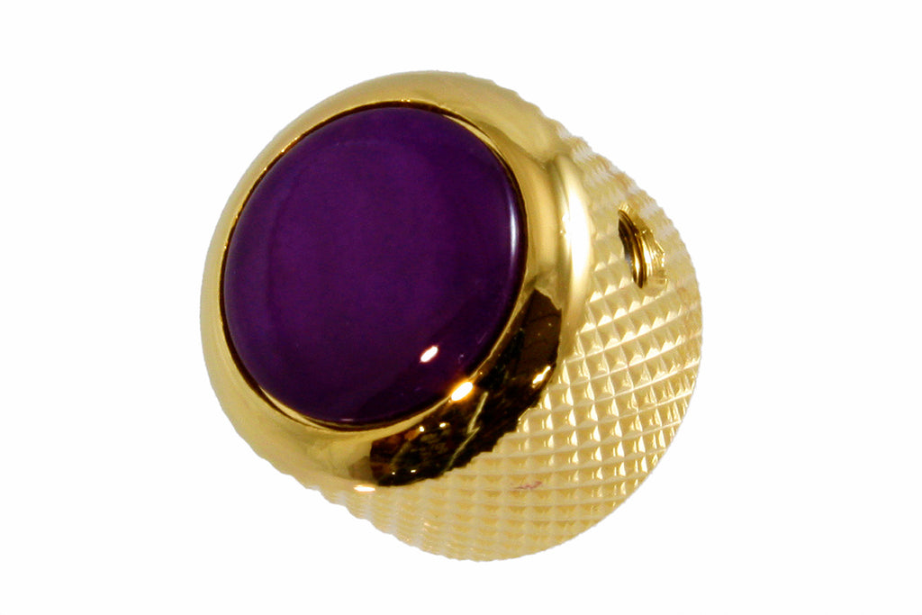 Q-Parts Acrylic Purple Pearloid Metal Knob