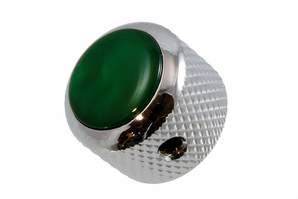 Q-Parts Acrylic Green Pearloid Metal Knob