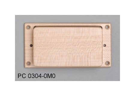 Pickup cover for Humbucker - wood with ring
