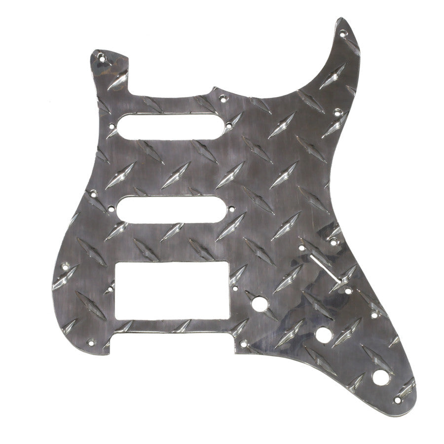 Pickguard for Strat - 11 screw holes - HSS - diamond plate