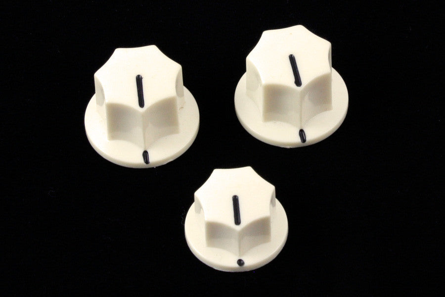 Knob set for J Bass - fits USA solid shaft
