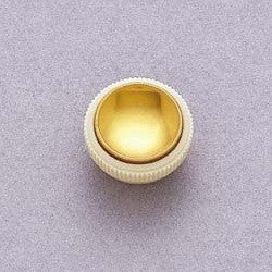 Knobs - Hofner style Teacup knobs (2) with gold reflector - with set screw - fits split shaft pots