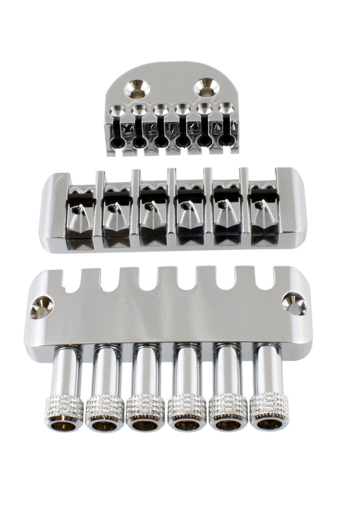 Guitar bridge - ABM headless system - headpiece bridge tuning tailpiece