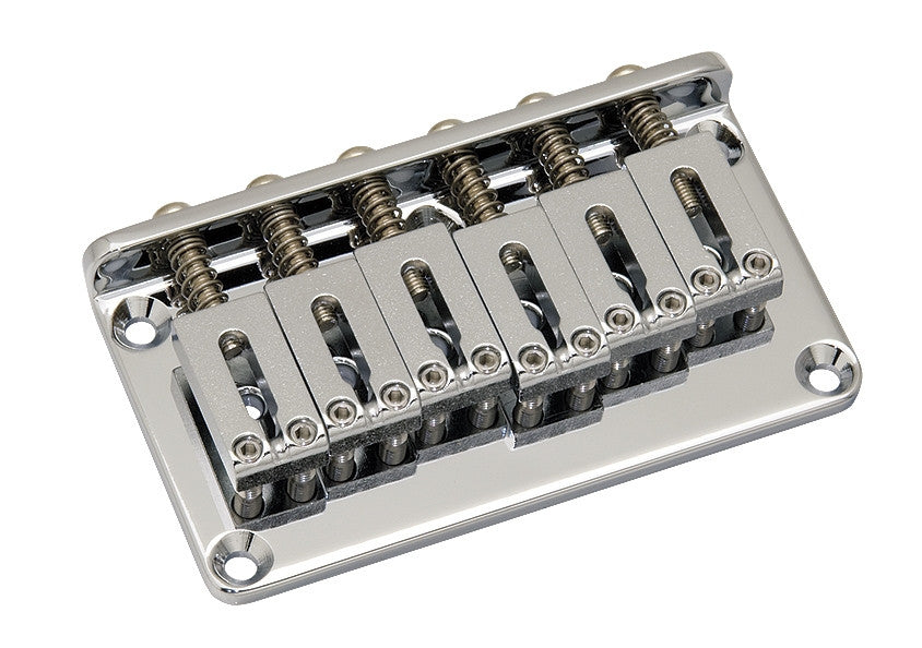 Guitar bridge - Gotoh non-tremolo bridge w steel saddles w screws 2-1/16 inch spacing