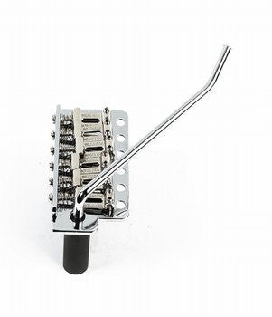 Guitar bridge - Wilkinson vintage-style tremolo - steel block - push-in arm - 2-1/8 inch string spacing