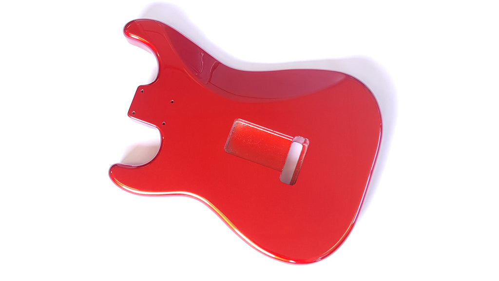 Guitar body - replacement body for Strat - finished - candy apple red