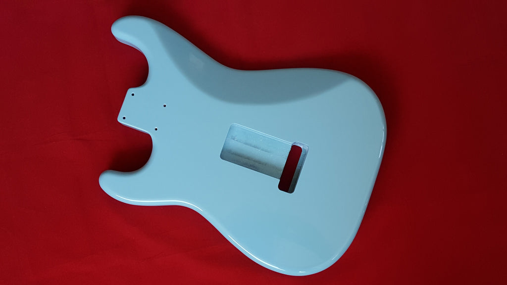 Guitar body - replacement body for Strat - finished - sonic blue