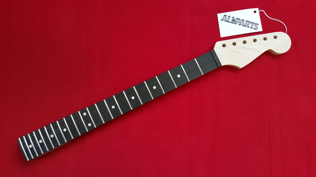 Guitar neck - replacement neck for Strat® - ebony fingerboard - no finish