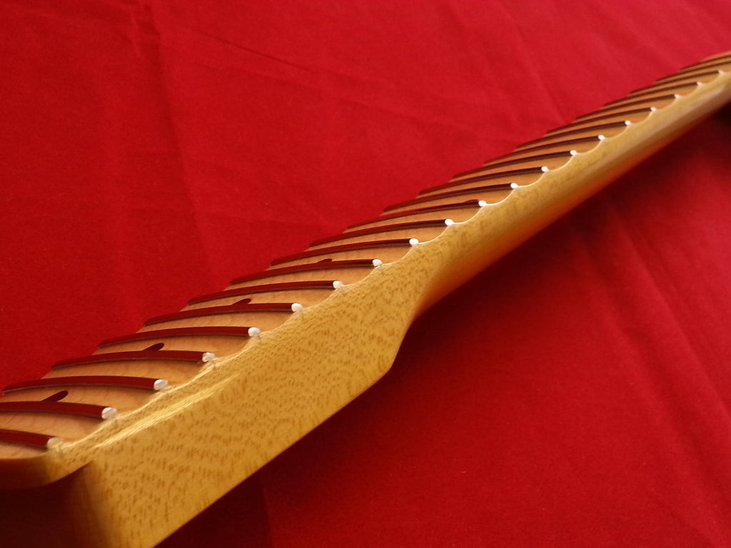 Guitar neck - replacement neck for Strat® - solid maple - with finish - Scalloped fingerboard