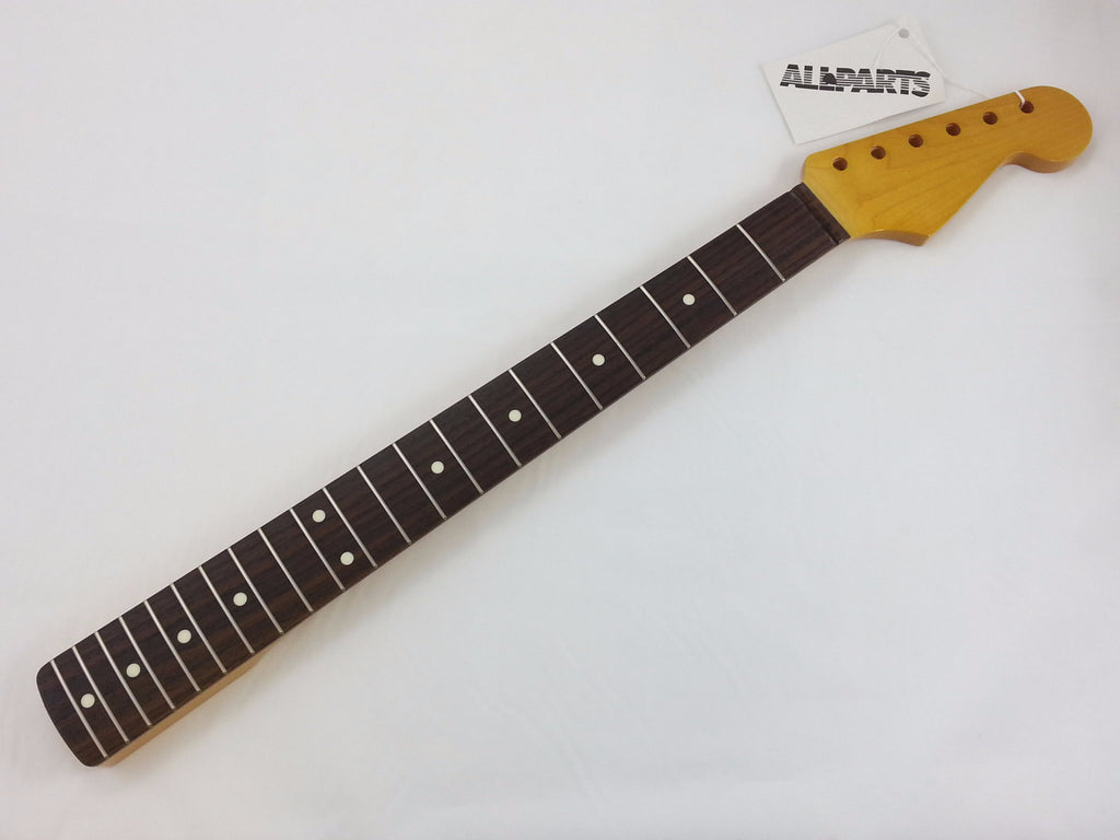 Guitar neck - Replacement neck for Strat® - Rosewood fingerboard - with finish - 21 fret
