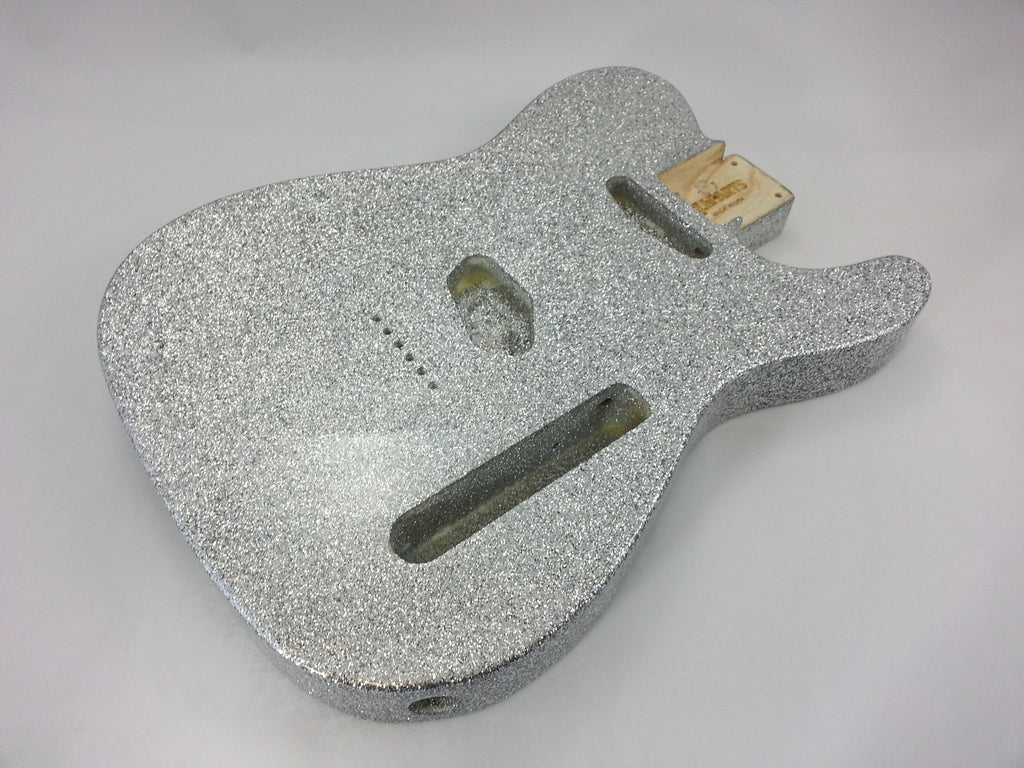 Guitar body - finished replacement body for Telecaster® - silver sparkle