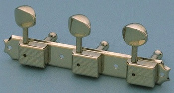 Tuning keys - vintage Deluxe style tuning keys 3x3 on a strip w nickel buttons
