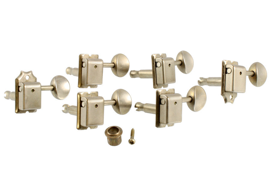 Tuning keys - Gotoh® vintage  style 6-in-line - Aged Nickel