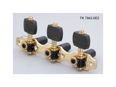 Tuning keys - Hauser style classical tuning keys  w black rollers ebony buttons