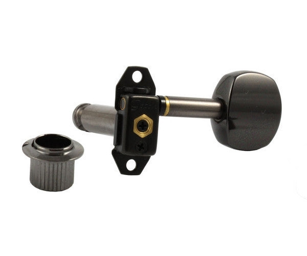 Tuning keys - Gotoh Stealth keys, lightweight, 6-in-line, with hardware, 18:1 [Gotoh part no. ST31-SB5]