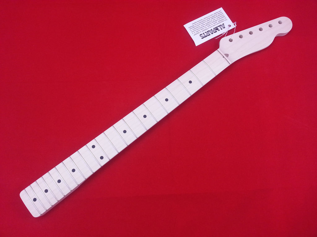 Guitar neck - replacement neck for Tele® - solid maple - no finish - 21 fret