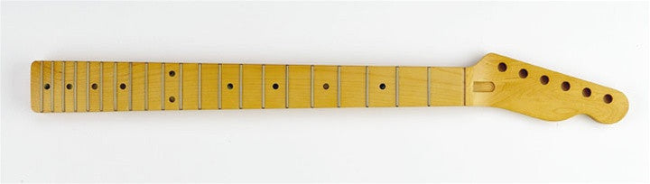 Guitar neck - replacement neck for Tele® - solid maple - w finish - Compound radius