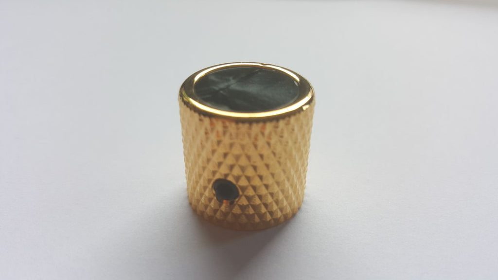 Gold Barrel Knob - Choose your custom inlay!