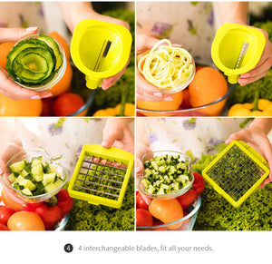 Kitchen accessory Mandoline Slicer knife Food Chooper Vegetable Cutter Peeler, Slicer,Grater kitchen tool with 7 Dicing Blades - Shoppers