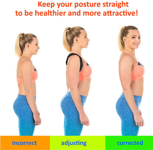 Magnetic Therapy Posture Corrector, Adjustable Shoulder and Back Brace Support. - Shoppers Gateway