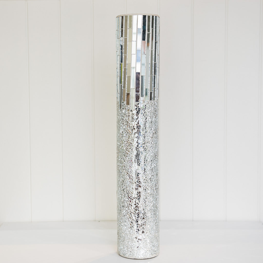 Mosaic Vase 60cm H - Wellington Wedding Hire
