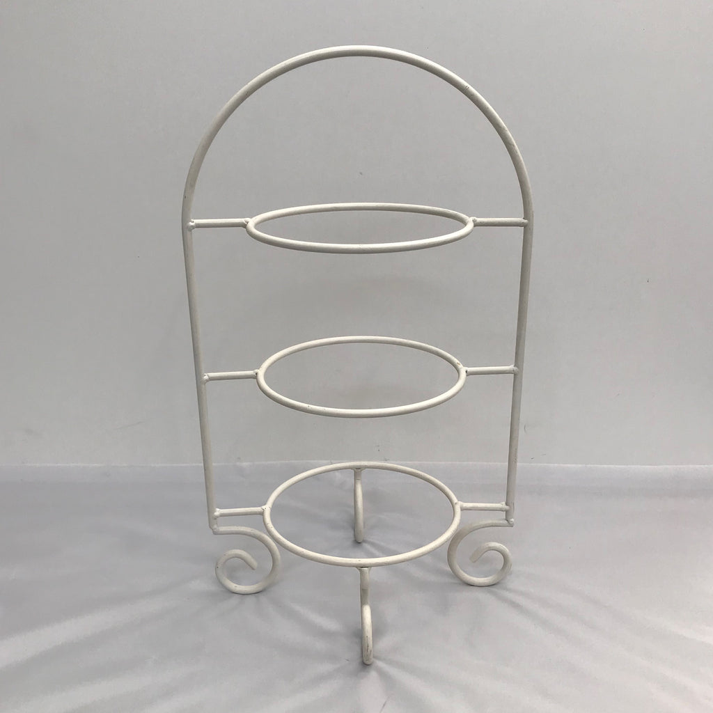 Cake stand, white wire 3 tier - Wellington Wedding Hire