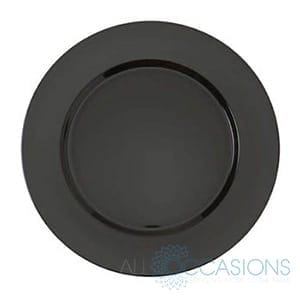 Black charger plate - Wellington Wedding Hire