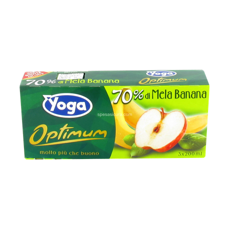 Succo mela e banana (200ml x3) YOGA Optimum