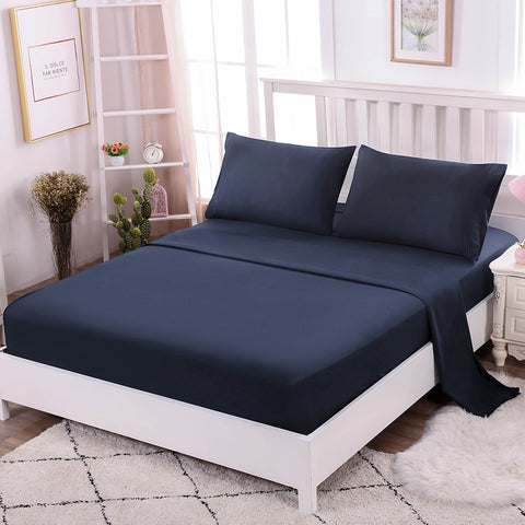 Togohome 4-Piece Bed Sheet Set Ultra Soft Luxurious Bed Sheet Set Includes Flat Sheet, Fitted Sheet and 2 Pillowcases