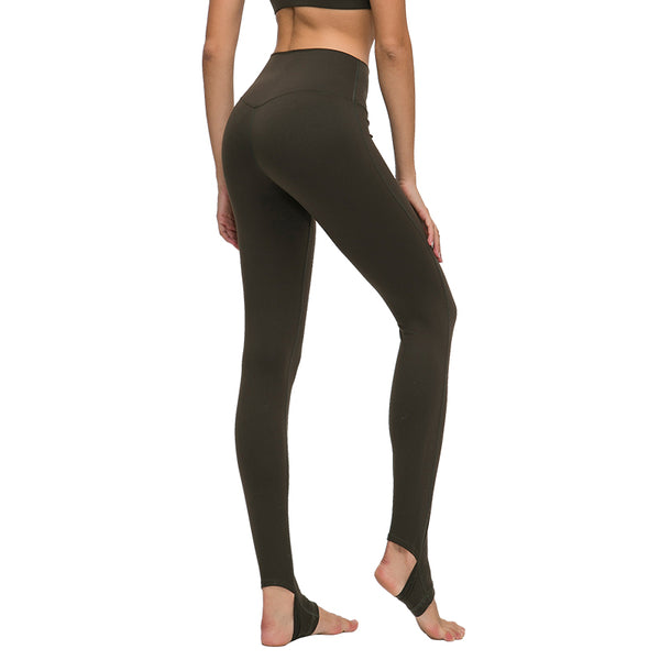 Catrne Women Crisscross Stirrup Tights Gym Yoga Workout Pants