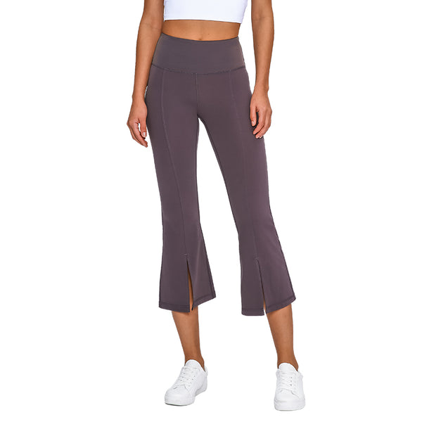 Yarcony Women's Bell Bottoms Flared Capri Yoga Workout Stretch Pants