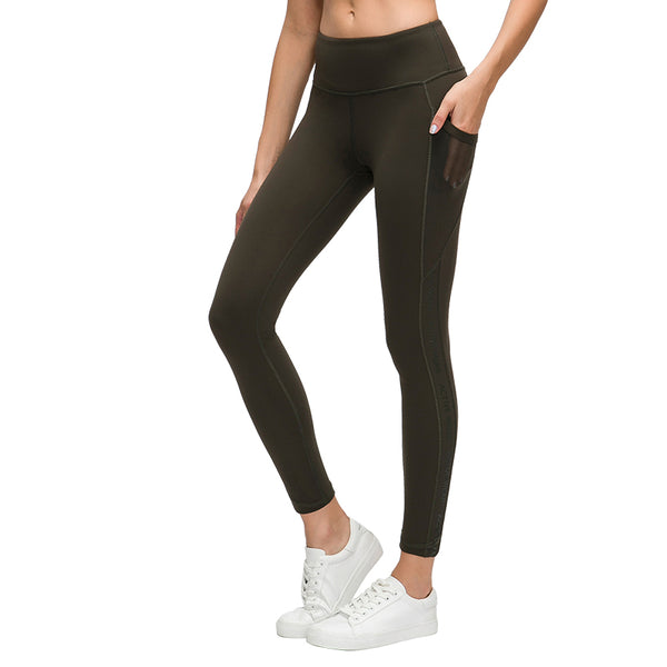Catrne Yoga Pants with Pockets for Women No See-Through High Waisted Workout Leggings