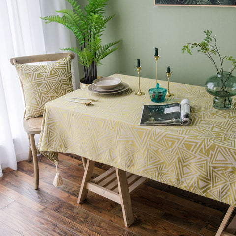 SAMTOU Vintage Embroidery Cotton Linen Tablecloth