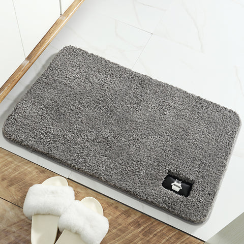 Homeral Bath Mat Bathroom Rugs Water Absorbent Plush Rugs for Tub Shower & Bath Room