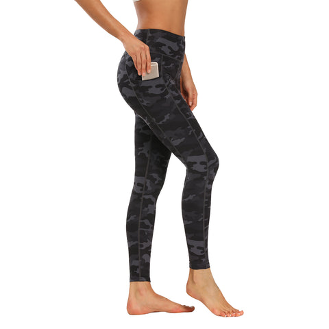 Houmous Women's Workout Prints Yoga Pants 7/8 Length Leggings with Pocket