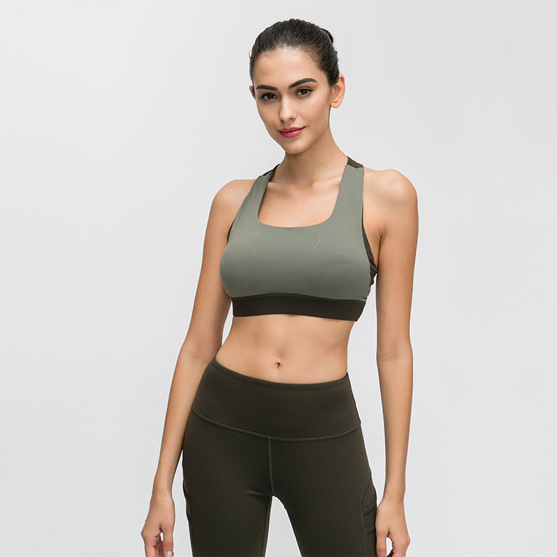Flyhill Strappy Sports Bra for Women Sexy Crisscross Back Yoga Bra with Removable Cups