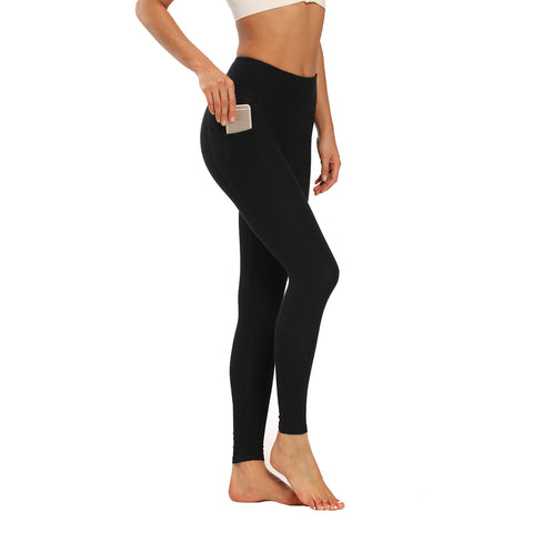 Houmous Women's High Waist  Workout Pants 7/8 Length Leggings with Pocket