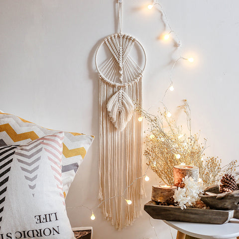 Homeral Boho Styly Macrame Woven Wall Hanging for Bedroom Office Home Wall Decor
