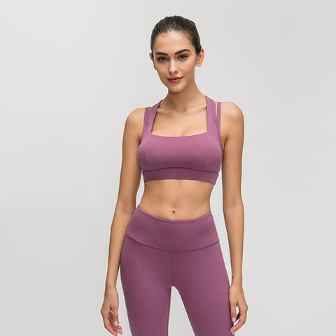 Afucus Workout Sports Bras for Women - Fitness Athletic Exercise Running Yoga Bra