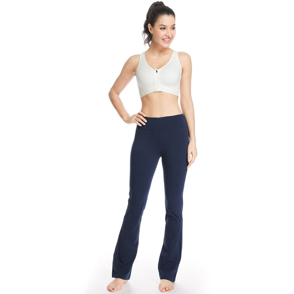 Houmous Women's Yoga Bootleg Pants Inner Hidden Pocket Workout Pants