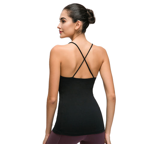 Garbendy  Women's Workout Yoga Sport Pads Bras Fitness Active Tank Tops
