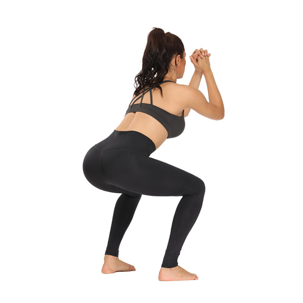 Houmous Women's Buttery Soft  Leggings High Waisted Full-Length Yoga Pants