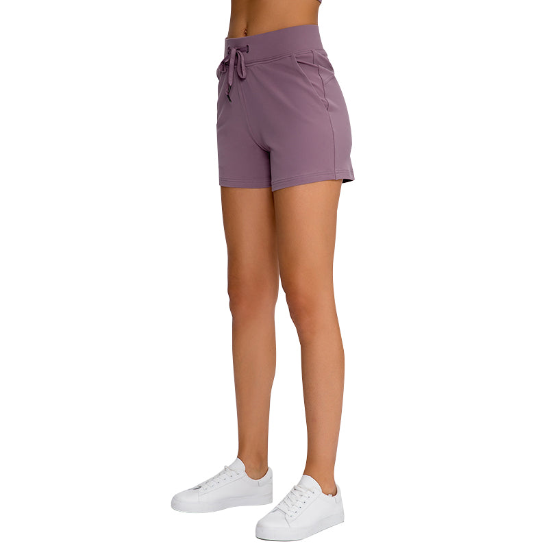 Formilian Women's Yoga Short with Side Pockets Workout Running Shorts