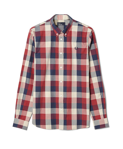 Fred Perry Men's Gingham Winter Twill Shirt