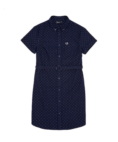 Fred Perry Women's Polka Dot Belted Shirtdress