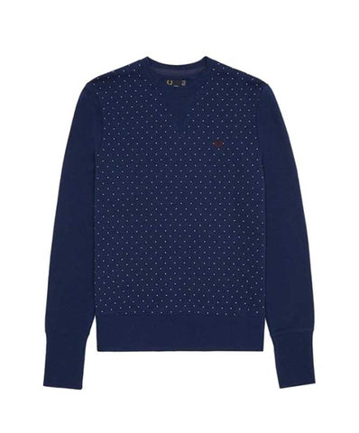 Fred Perry Womens's Polka Dot Loopback Sweater