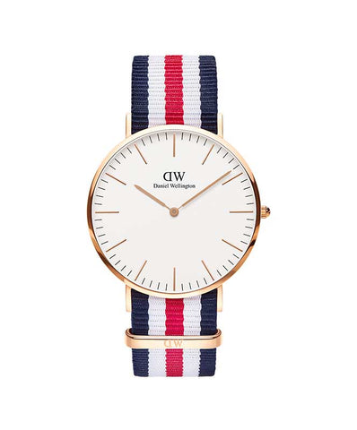 D. Wellington M Classic Canterbury Watch Rose 40mm