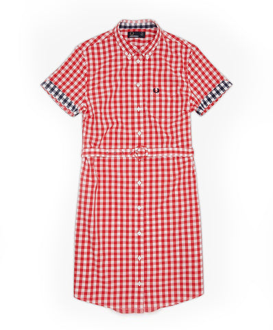 Fred Perry Women's  Gingham Button Down Dress
