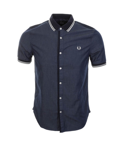 Fred Perry Men's Twin Tipped Chambray Shirt