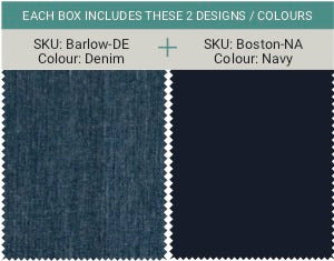 Men's Barlow - Denim & Boston - Navy (2 in a pack)